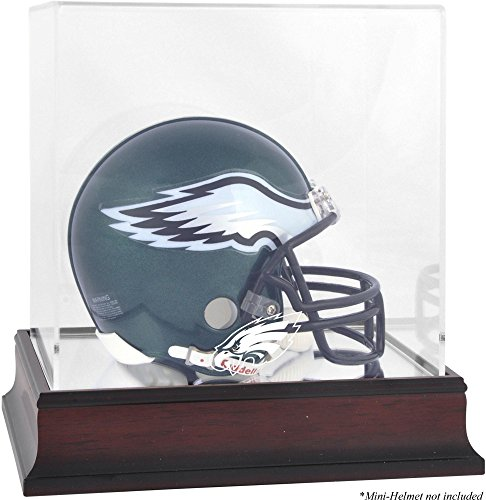 Philadelphia Eagles Mahogany Mini Helmet Logo Display Case (Eagles Philadelphia Memory)