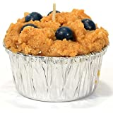 Muffin Shaped Candle for Wedding/Dinner, Holiday Event, Home Decoration, 30 to 40 Hours, 3.25 in. Diameter x 2.75 in. Tall, 1