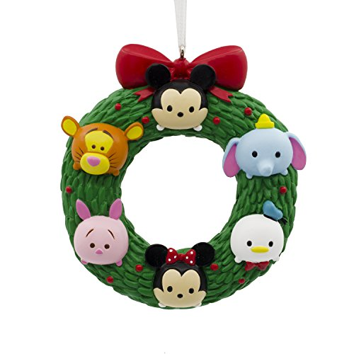 Hallmark Christmas Ornament Disney Tsum Wreath, Mickey Minnie Winnie The Pooh Tigger