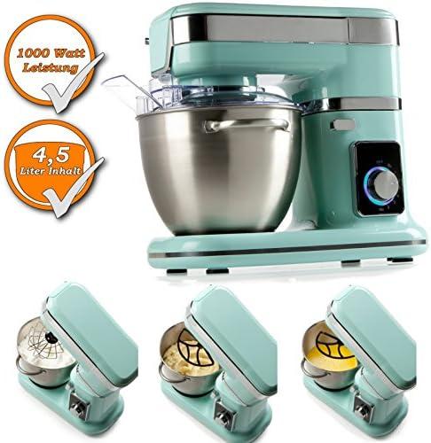 Robot de cocina profesional con Planet Engranaje con nieve, varillas, amasar. azul: Amazon.es