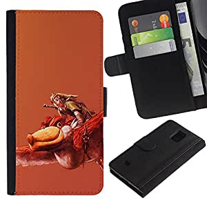 NEECELL GIFT forCITY // Billetera de cuero Caso Cubierta de protección Carcasa / Leather Wallet Case for Samsung Galaxy S5 Mini, SM-G800 // Zeldo