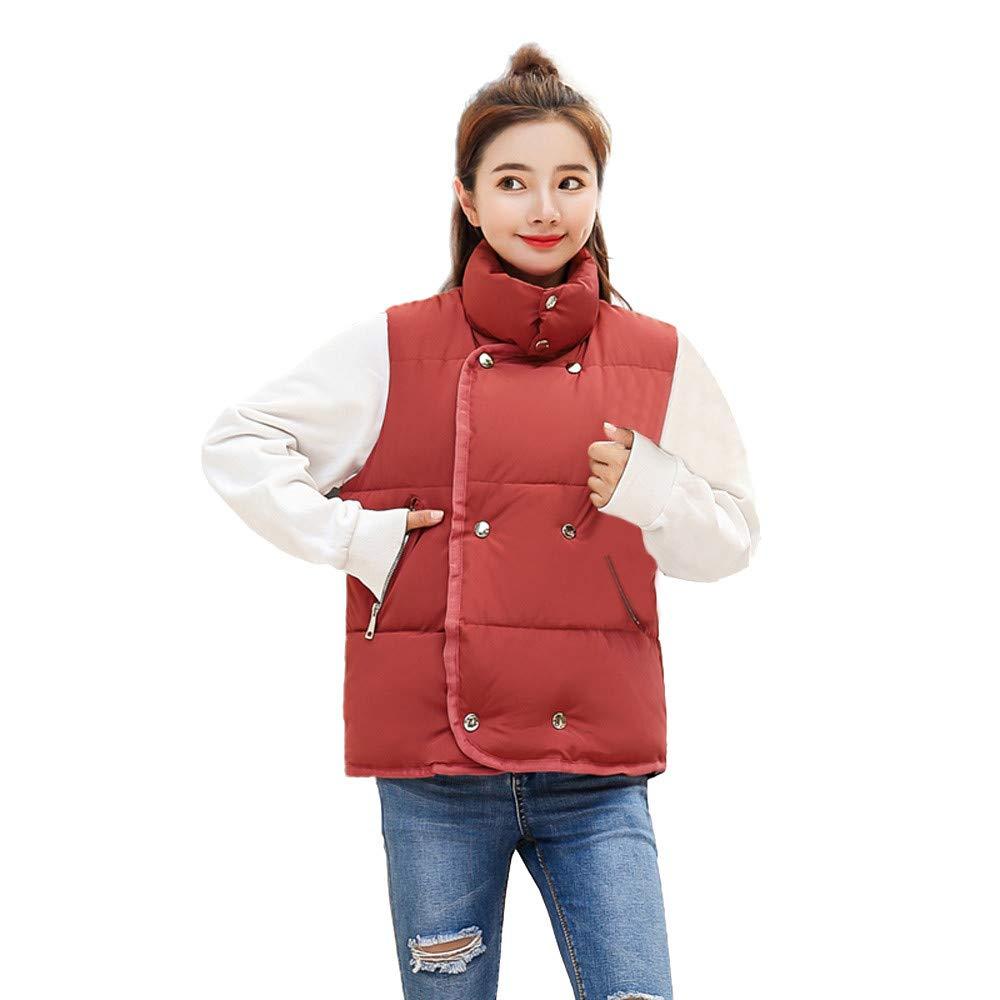 Women Jacket Vest GREFER Winter Faux Fur Hooded Thick Warm Slim Overcoat Coat