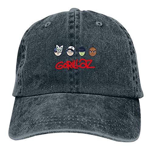 Unisex G-orillaz Virtual Band Music Videos Rock Hip Hop Hip Hop Baseball Cap Adjustable Cowboy Hat Navy