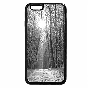 iPhone 6S Case, iPhone 6 Case (Black & White) - Winter Forest!