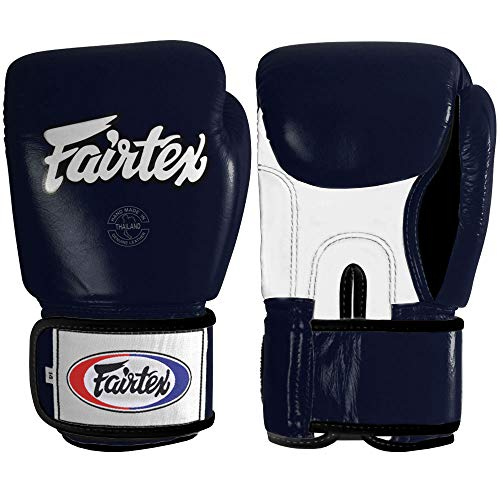 Fairtex Muay Thai Style Sparring Gloves, Blue, 14-Ounce
