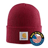 : Carhartt Men's Acrylic Watch Hat,Independence Red (Closeout),One Size
