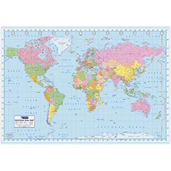 Amazon world map color educational poster 18x12 posters prints world map color educational poster 18x12 publicscrutiny Gallery