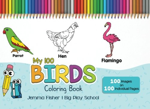 Download My 100 Birds Coloring Book (100 Coloring Pages) (Volume 1) ebook