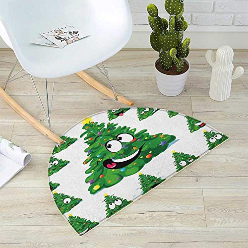 Christmas Half Round Door mats Christmas Tree Cartoon for sale  Delivered anywhere in Canada