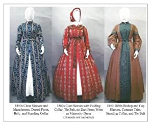 Steampunk Sewing Patterns- Dresses, Coats, Plus Sizes, Men's Patterns 1840s - 1860s Ladies Wrapper Work-Dress Morning Gown or Maternity Dress Pattern $17.50 AT vintagedancer.com
