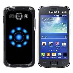 Carcasa Funda Prima Delgada SLIM Casa Case Bandera Cover Shell para Samsung Galaxy Ace 3 GT-S7270 GT-S7275 GT-S7272 / Business Style Blue Lights