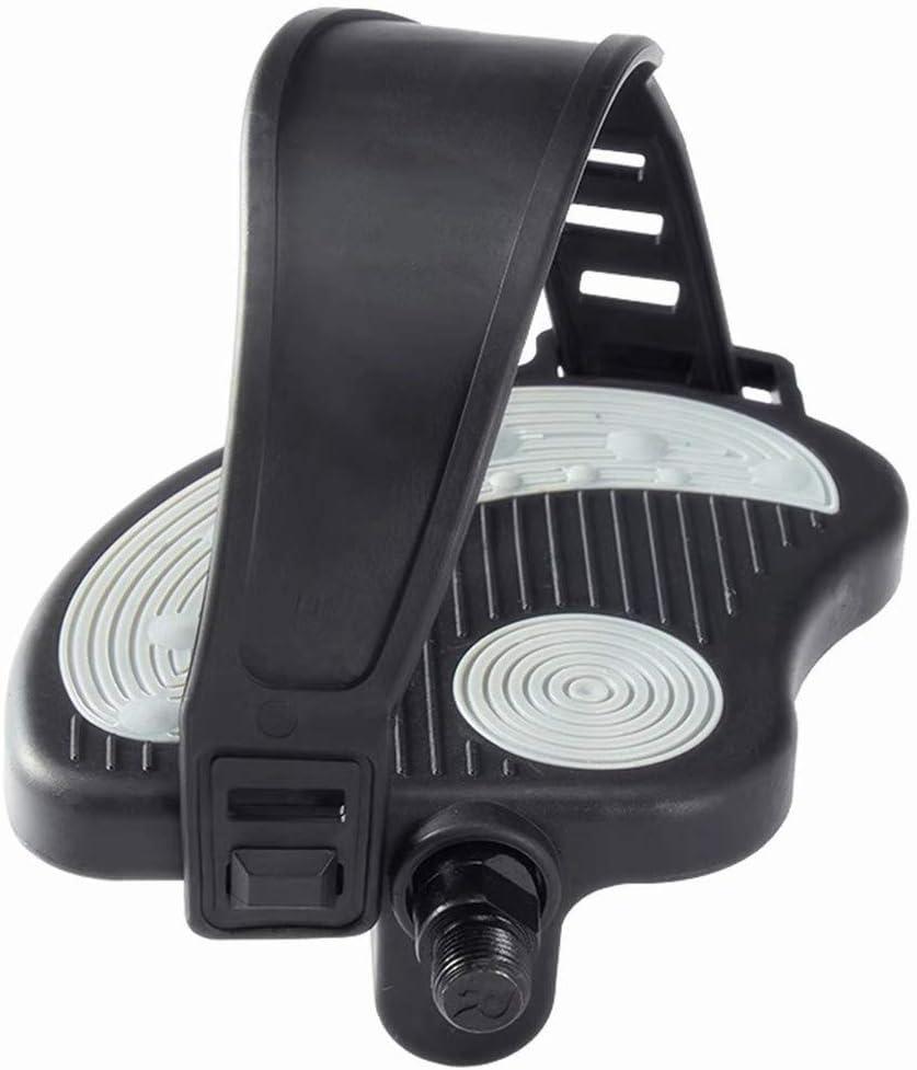 COZYROOMY Pedales de Bicicleta estática con Correa Ajustable para Pedales de Bicicleta estática de Interior para Todos los husillos de 9/16 y 1/2 Pulgada. 6 Meses de Garantia