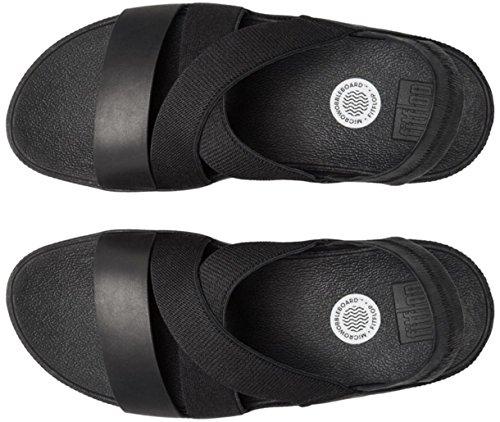 FitFlop - Sandalias de vestir de Lona para mujer Negro negro