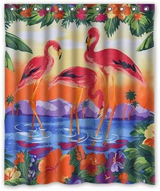 Dalliy Flamingo, pintura al óleo del paisaje disfraz cortina de la ...