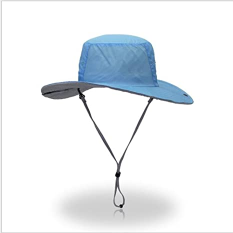 ArryJing Fishing Camping Hunting Hiking Sun Hat Wide Brim Boonie Cap UPF  50+ Summer Breathable 0fd99540788a