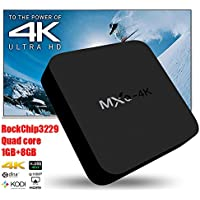 MXQ 4K RK3229 Android 4.4 1GB/8GB 10Bit WIFI LAN KODI 16.0 AirPlay Miracast TV Box Android Mini PC