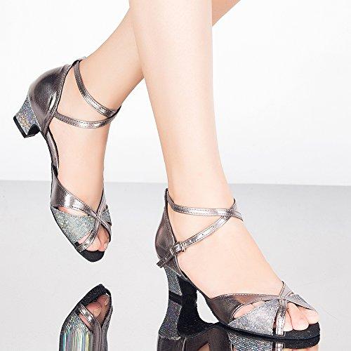 Wrap Peep Shoes Toe Dance Ankle LOSLANDIFEN Sandals Salsa Latin Women's Tango TxaqYBFn4