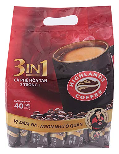 3IN1 Instant coffee - Highlands Coffee - 40 sticks x 17grams - Premium Vietnamese coffee 51XNxTmu3oL