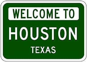 Amazon.com: HOUSTON, TEXAS - USA Welcome to Sign - Heavy