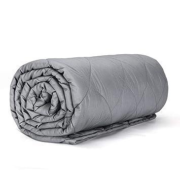 Manta Ponderada Para Adultos Con Terapia De Ansiedad, Manta Sensorial De Gravedad Para Un Mejor Sueño Y Alivio Del Estrés,150x200cm(9kg): Amazon.es: Hogar