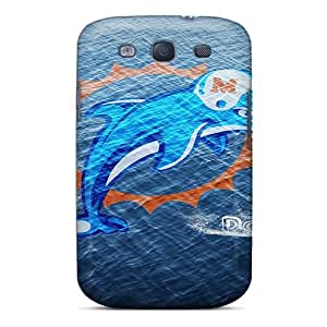 Shock Absorbent Cell-phone Hard Covers For Samsung Galaxy S3 With Custom Trendy Miami Dolphins Image AnnaDubois