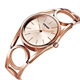 Women's Quartz Analog Rose Gold-toned Wrist Watch, Fashion Simple Dress Bracelet Watches for Women Ladies