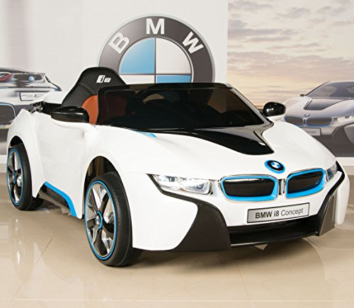 BMW i8 12V Kids Ride On Battery Powered Wheels Car RC Remote White