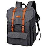HapTim Travel Baby Diaper Bag Backpack, Large Capacity/Double Deck Design-Easy Organize/Comfortable/Fashion Cool Gift for Newborn Mother Father(DarkGrey 5312)