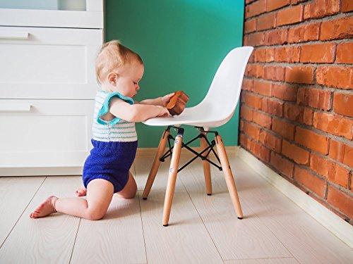 Buschman Set Of Table And 2 White Kids Eames Style Retro