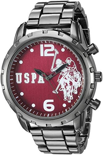 Amazon.com: U.S. Polo Assn. Men's Analog-Quartz Watch with Alloy Strap, Silver, 8.9 (Model: USC80441): Watches