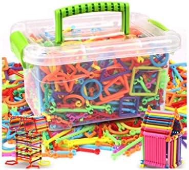 QJL_ANA デラックスビルバッグ、異なる形状のバーの何百ものビルディング・ブロッククリエイティブキッズ教育玩具 (Size : 500)