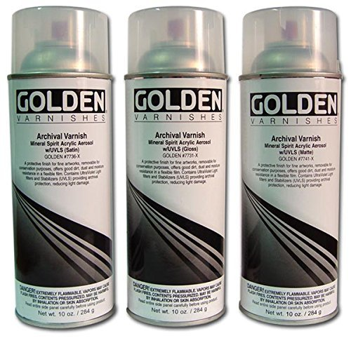 (Golden Archival Varnish Gloss 10 oz Spray Can by Golden Artist Colors)