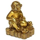 Zodiac Brass Monkey Statue Chinese Handmade Home Decor Collectibles Figurine BS050