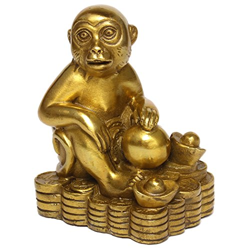 Zodiac Brass Monkey Statue Chinese Handmade Home Decor Collectibles Figurine BS050 -
