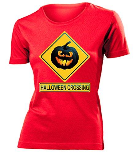 Comedy - Halloween Crossing Cooles Fun mujer camiseta Tamaño S to XXL varios colores Rojo