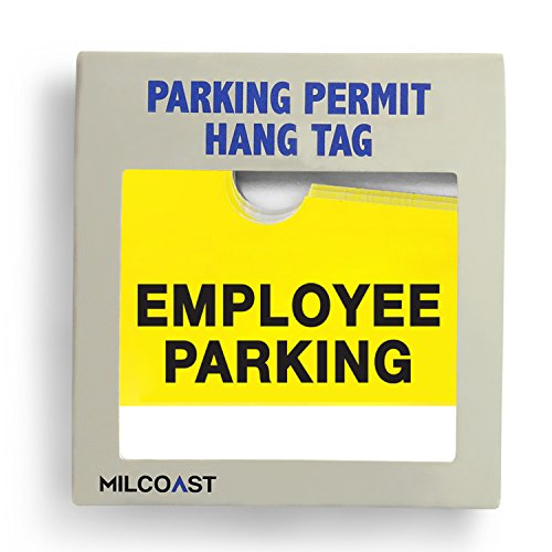 Employee Parking Permit Pass Stock Hang Tags for Office ...