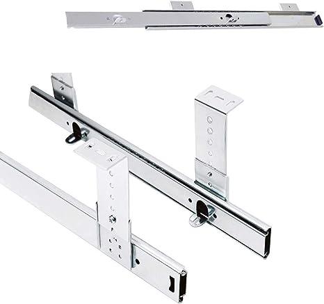 2 Packs Drawer Ball Bearing Slides Runners Metal Table Extension Drawer Repair Kit For Underdesk Keyword Platform Shelf Screws Are Included Beapet Keyboard Shelf Runners Adjustable Under Desk