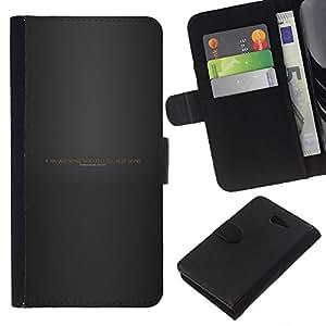 YiPhone /// Tirón de la caja Cartera de cuero con ranuras para tarjetas - Seguir adelante a través de secuencias de comandos Infierno - Sony Xperia M2