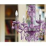 AF Lighting 8353-4H Naples Four Light Mini Chandelier- Light Purple