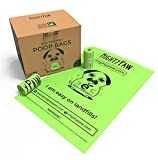 Mighty Paw Eco-friendly Poop Bags, Lavender-scented Dog Waste Pick-up Bags, Extra-thick (0.6 mil) Doggie Bags, Large Bags 9'' x 13'' for Pets, Bags are Earth Friendly Biodegradable (40 Rolls, Green)