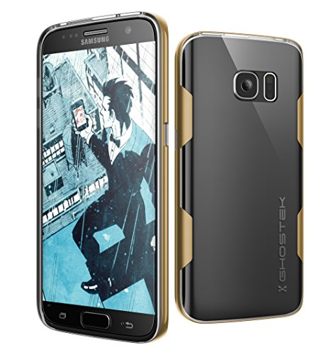 Aluminum Protector Case - Galaxy S7 Case, Ghostek Cloak Series for Samsung Galaxy S7 Slim Protective Armor Case Cover | Explosion-Proof Screen Protector | Aluminum Frame | TPU Shell Exchange (Gold)