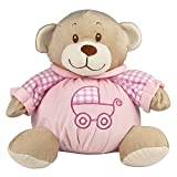 eBuyGB 11'' My First Teddy Bear - Infant Girl's Nursery Soft Stuffed Animal Plush with Built-In Rattle (Baby Pink)