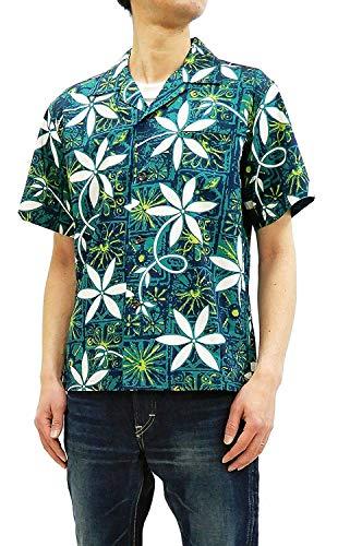 Star of Hollywood Men's Short Sleeve Shirt Elvis Presley Blue Hawaii SH38118 Green Tagged Japan M (US S-M)]()