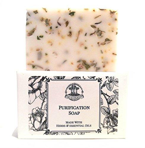 Purification Shea Herbal Soap Bar Handmade for Negativity & Unwanted Energy Wiccan Pagan Hoodoo