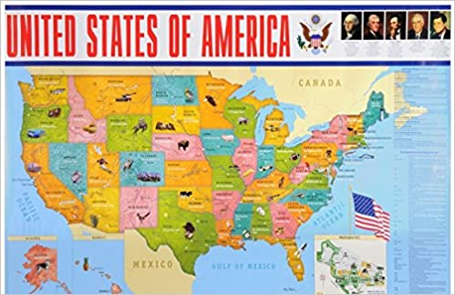 United States Of America Karta Author 9785992511321 Amazon Com