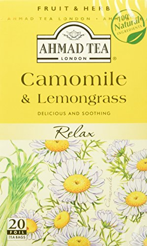 Ahmad Tea - Camomile & Lemongrass Tea Infusion 20 Bags - 30g