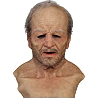 Cimaybeauty Another Me-The Elder Halloween Holiday Funny Masks Supersoft Old Man Adult Mask Face Ultimate Scary…