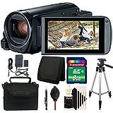Canon VIXIA HF R800 HD Camcorder (Black) + 8GB Top Accessory Kit & Tripod