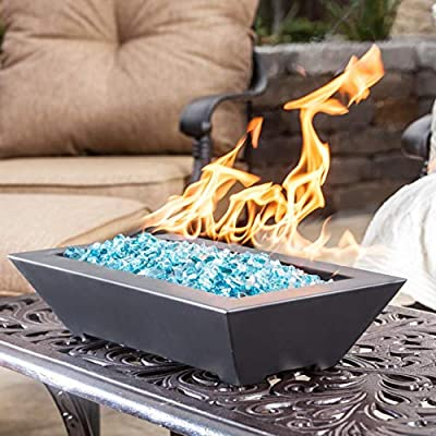 Lakeview Outdoor Designs Westfalen 18-Inch Table-Top Natural Gas Fire Pit - Black