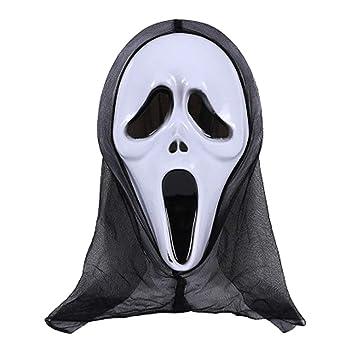 Shaoge - Máscara de Halloween, diseño de calavera y fantasma